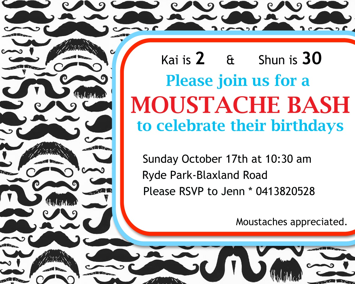Moustache Bash: A Perfect Joint 30th & 2nd Birthday Celebration