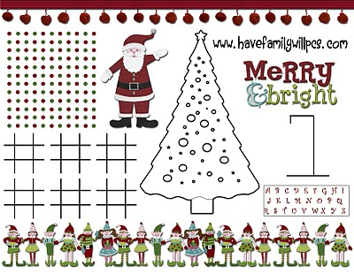 Christmas Activity Printable from Have Family, Will PCS