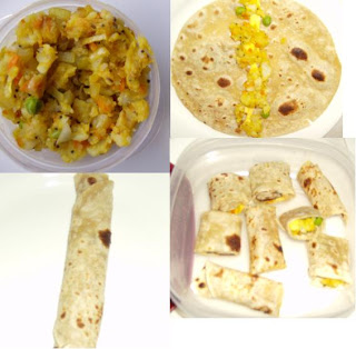 kids lunch box item chappathi roll