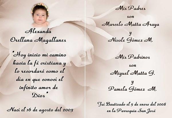 Mensajes bautizo para tarjetas - Imagui