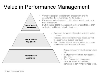 examining the relationship of values based management in performance evaluations
