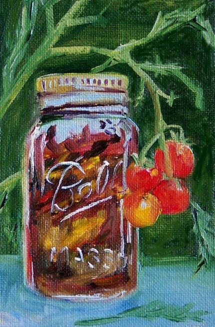 Original Oil Painting - Tomato Preserves