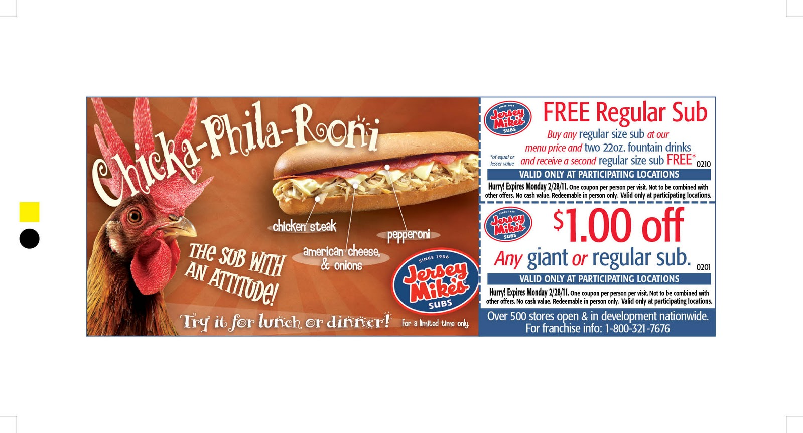 It's just a photo of Irresistible Jersey Mikes Printable Coupons