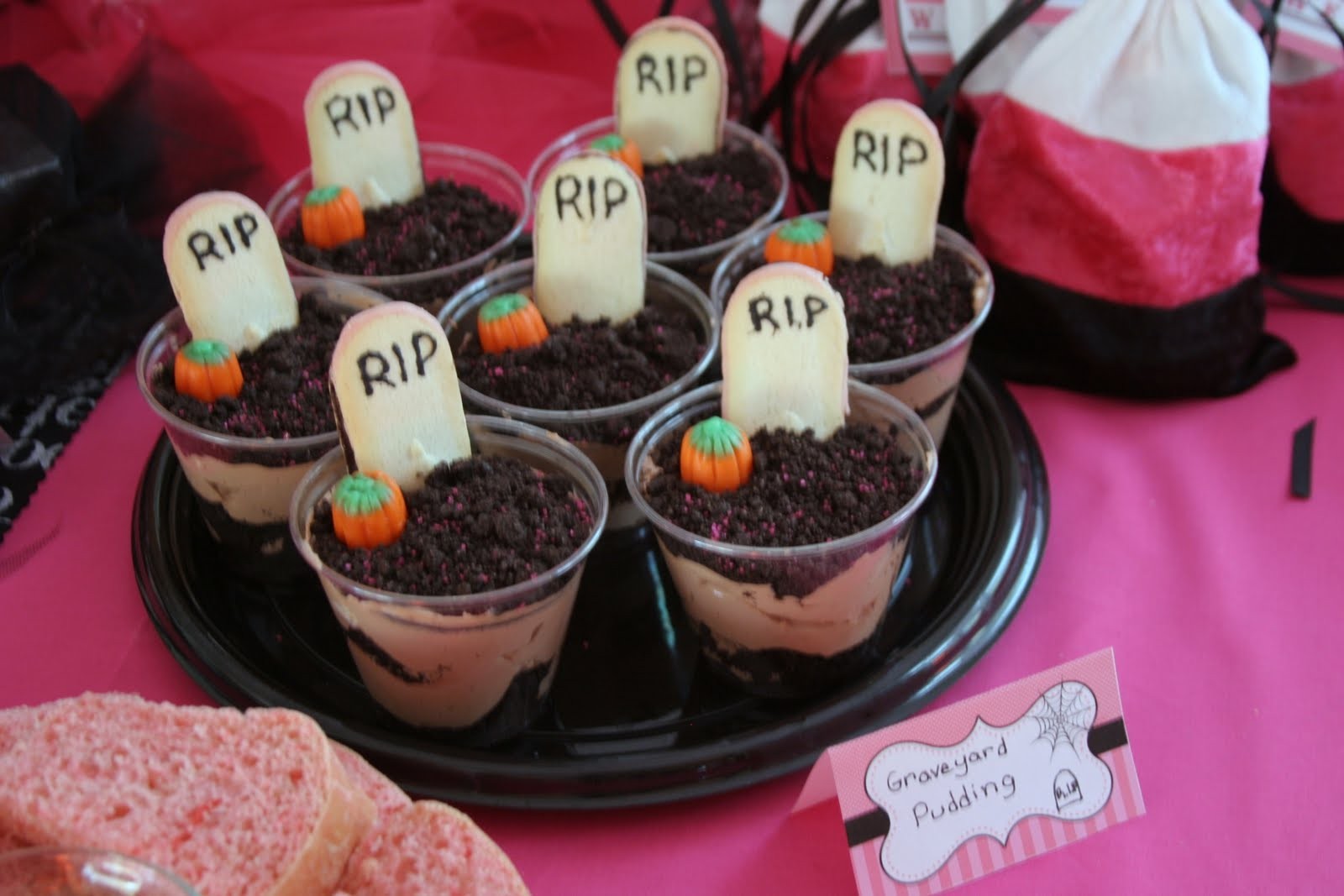 Dirt Cake Ideas For Halloween : Punkie Pie s Place ...: Pink-O-Ween Halloween