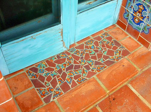 broken tile mosaic doormat