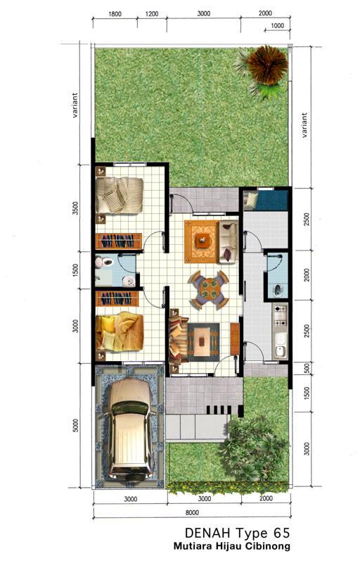 mutiara hijau residence denah type 45 65 75