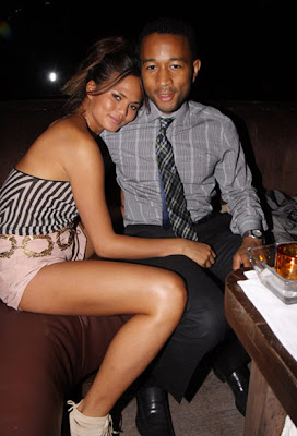 John Legend and his girlfriend Christine at O'Neal McKnights' Mixtape ...