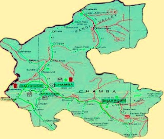 Chamba map- Chamba india-Chamba Himachal- Famous Places in India
