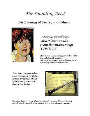 The San Francisco Public Library presents a poetry program featuring Ana Elsner