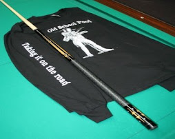 Autographed pool cue from the hustler