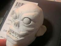 粘土でデスノートのリュークを作ってみた