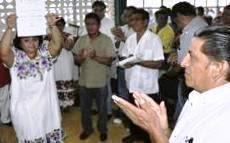 Sonia Cuevas Kantún PRImera Dirigente CeNeCista Estado Campeche. 7-Julio-2010