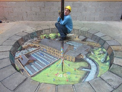 Amazing 3d Floor Chalk Drawings 3d Chalk Floor Drawings