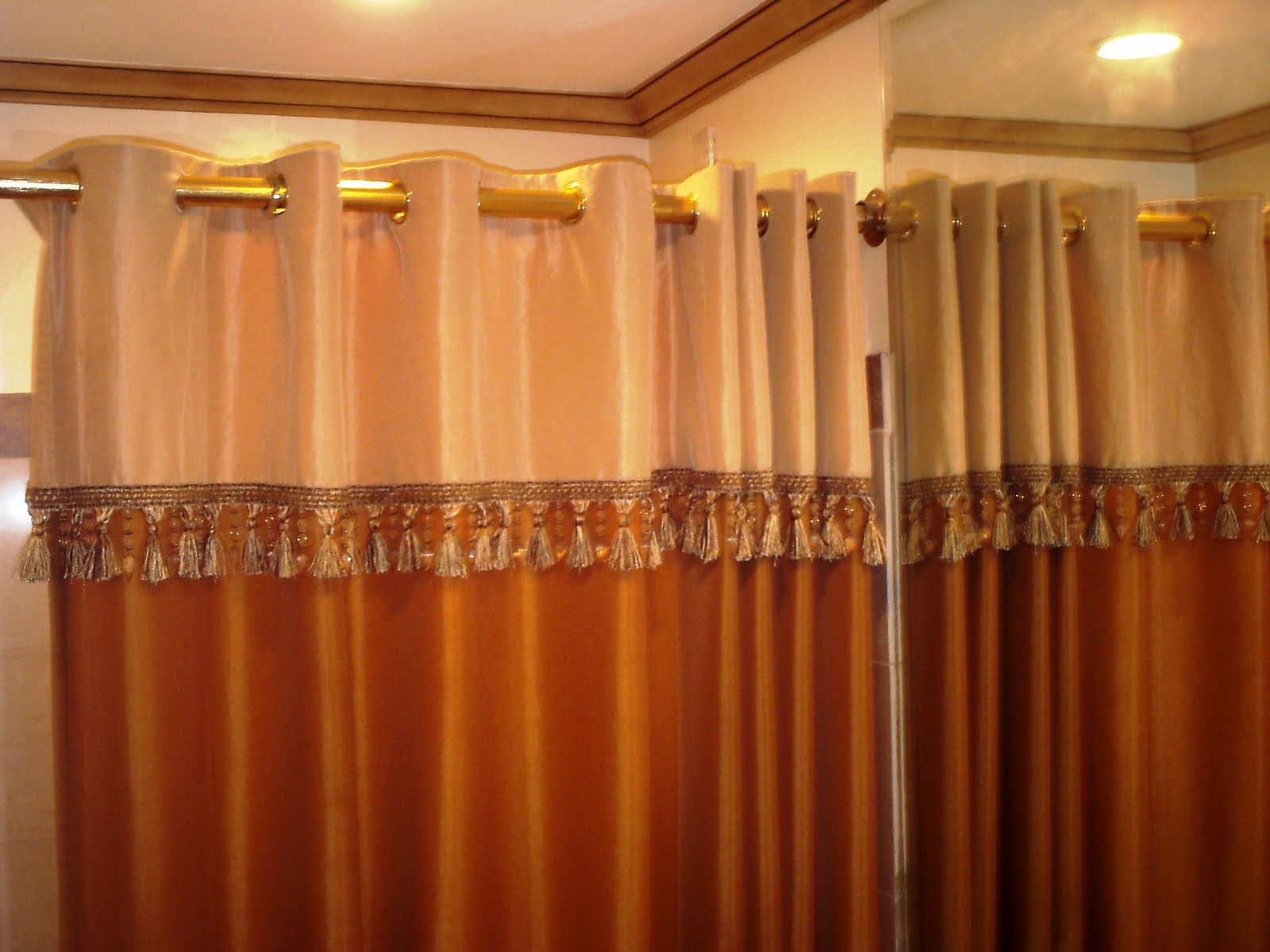 Photos of home interior decors elegant shower curtain for Interior design curtains