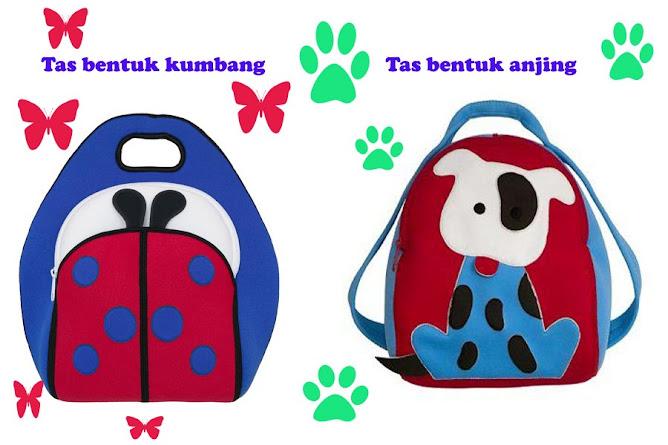 Tas bentuk binatang kumbang dan anjing