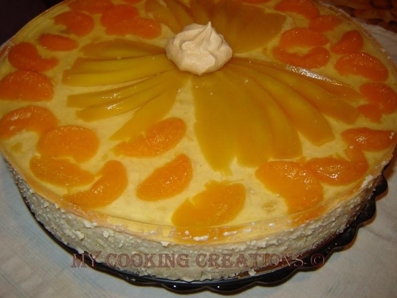 Лека торта с манго и мандарини