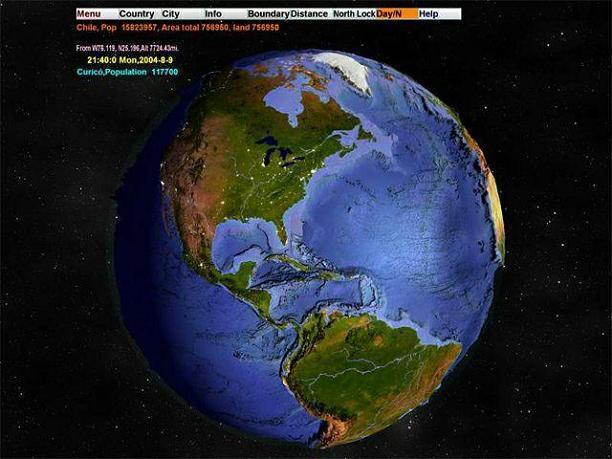 3D World Map 2.1 | Screensavers and Wallpaper