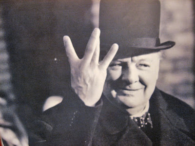 winston churchill v for victory