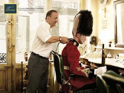 Eurostar shaving guardsman's busby