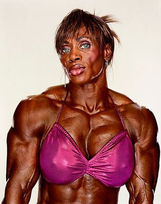 scary female bodybuilder photo