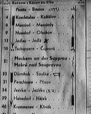 Jizdní řád Mokré nad Soupravou