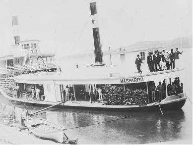 El vapor Masparro, en el puerto de Ciudad Bolìvar a comienzos del siglo XX