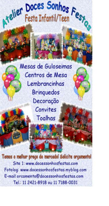 ******Atelier Doces Sonhos Festas ****** http://www.docessonhosfestas.com