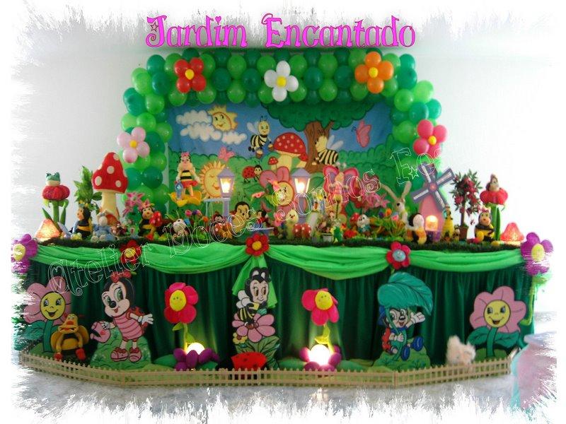 Atelier Doces Sonhos Festas Decoração Tema Jardim Encantado
