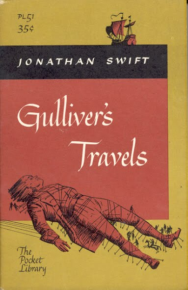 the irony of the world in the novel gullivers travel by jonathan swift Gulliver's travels by jonathan swift your book to class much of the irony in gulliver's travels comes from the contrast between self-image and reality.