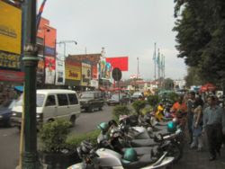 Malioboro, the most famous street in Yogyakarta city, Indonesia