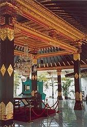 The kraton's main pavilion in Yogyakarta, Indonesia