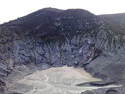 View of the mount and the crater of Tangkuban Parahu, Bandung