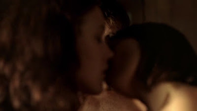 Thea Brooks and C.C. Sheffield, Lesbian Kiss Tru Blood