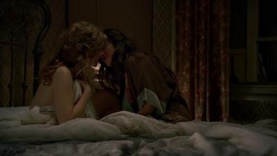 Aleksa Palladino and Lisa Joyce Lesbian Images, lesbian kiss Boardwalk Empire