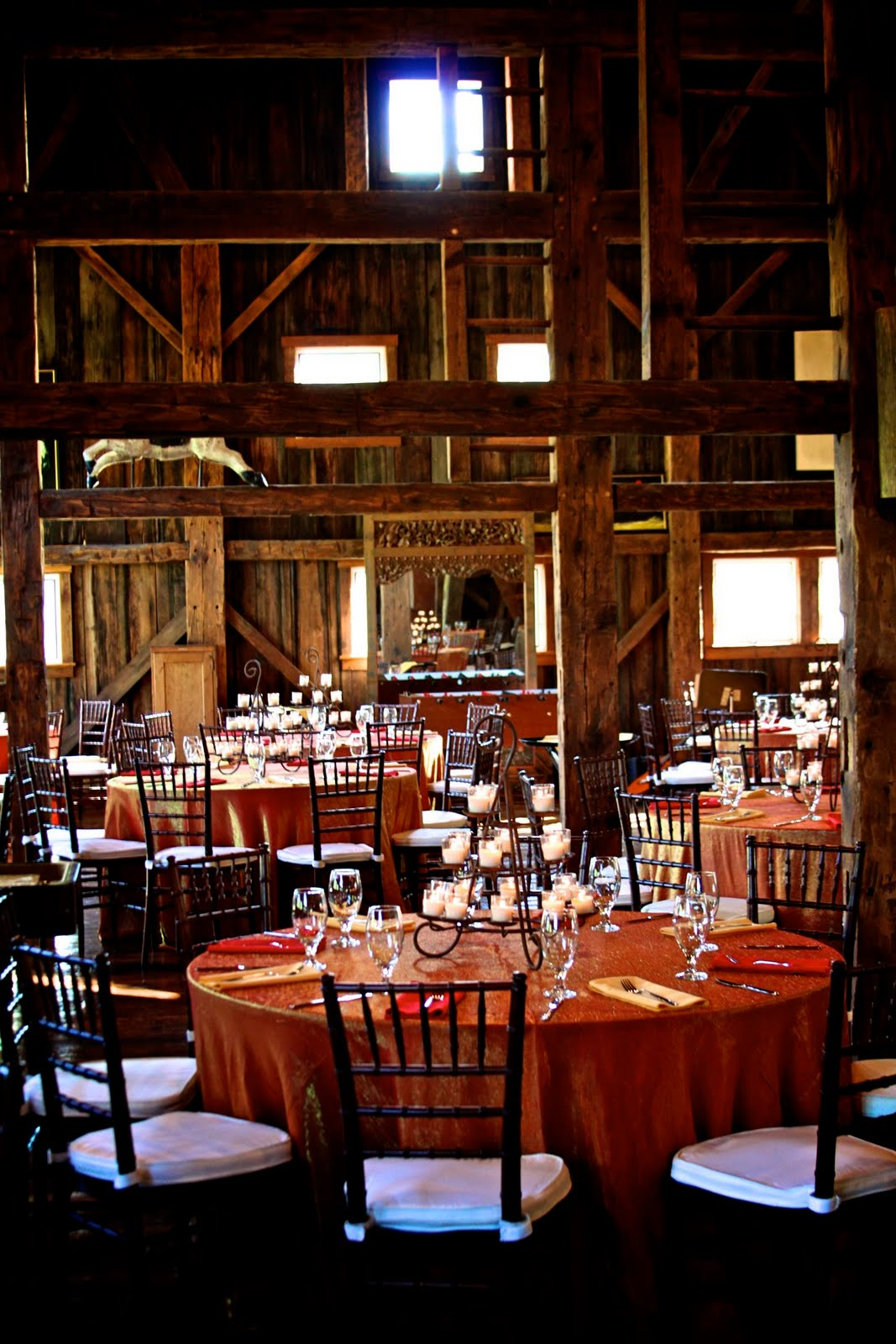 Inside The Red Barn Approx 30 Mins Before Guests Are Invited Insidecandles Not Quite Lit
