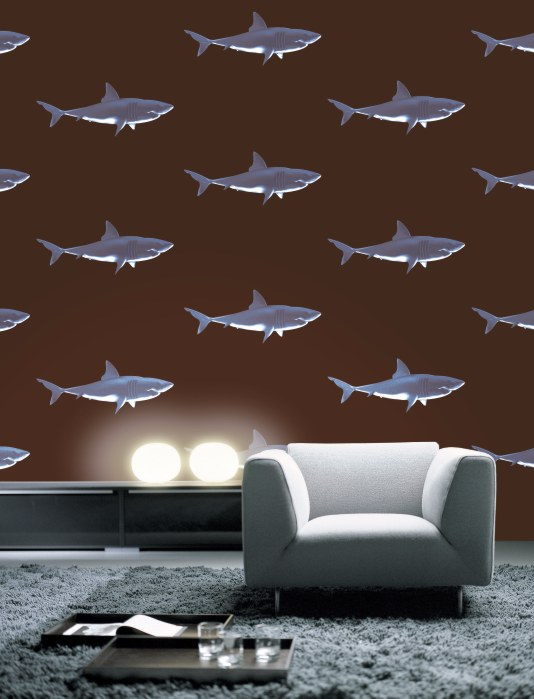 Rasch Textil - Shark Attack wallpaper