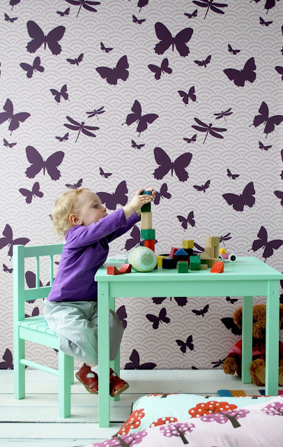 Ferm Living - Butterflies wallpaper