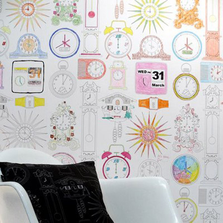 Mini Moderns - Tick Tock wallpaper