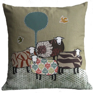 Feed the Dog - Flock cushion
