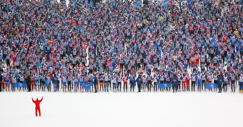 Moscow Ski Track-2011. Khimki, near Moscow.