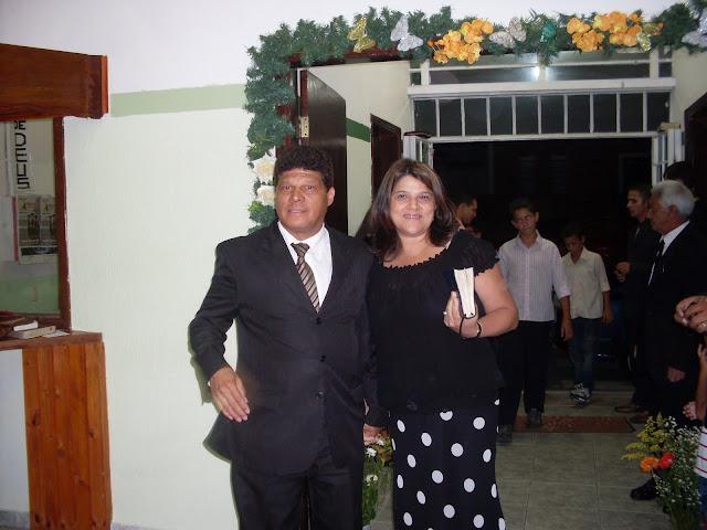 Pr. MARINO SOARES DE SOUZA  presidente, Missª. EDNA ANDRADE DE SOUZA sua esposa.