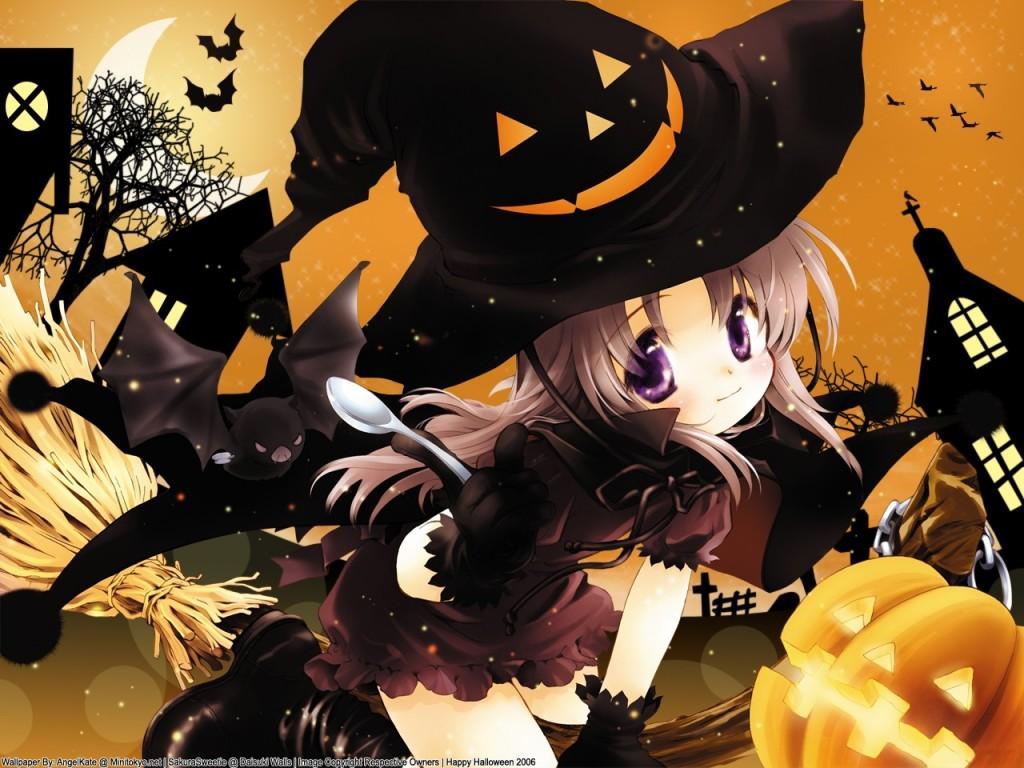 la casita de caro anime halloween wallpapers