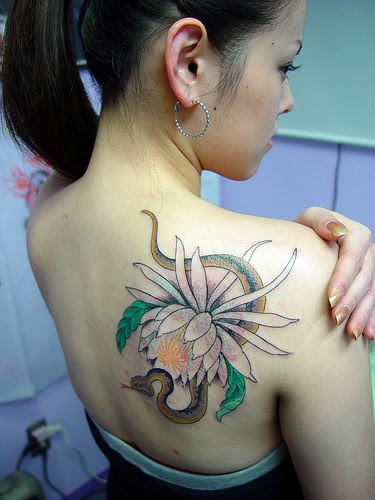 See more Japanese tattoo Designs Below: Hannya Mask Tattoo, Japanese Flower japanese flower tattoo. Posted by embok at 2:42 AM