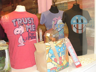 Junky Food T-shirts at Whiteleys, photo by Lucia Carpio