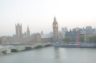 View of London Big Ben and Westminster taken from the London Eye. Photo by Lucia Carpio.