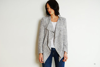 Summer Tweed waterfall jacket from Betty Jackson TWO spring/summer collection.