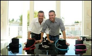 Dean and Dan Caten, the twin designers and Creative Directors of the DSQUARED&#178; brand in LA.