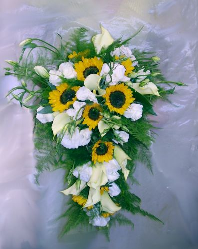 Bouquet Bridal Sunflower Bridal Bouquet Ideas With White
