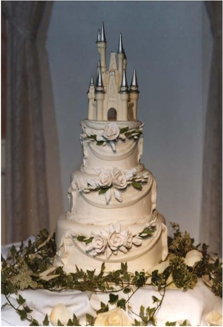 most definitely not least, a dream Cinderella's Palace wedding cake