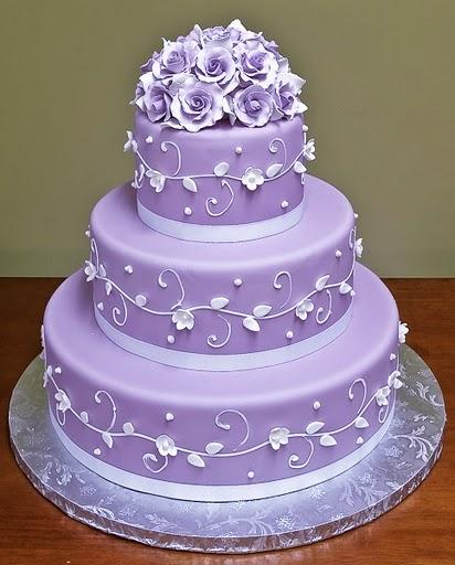 wedding cakes pictures purple wedding cakes